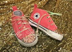 You Design Custom Swarovski Infant Converse Shoes 9544356b0