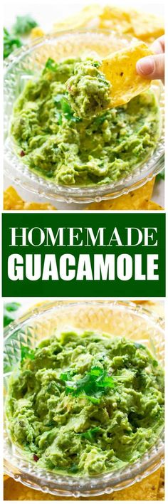 I like my Homemade Guacamole recipe on the chunky side with a few tomatoes, jalapeno, onions, lime, and cilantro. the-girl-who-ate-everything.com