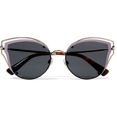 Valentino Cat-eye acetate and silver-tone sunglasses ($420) ❤ liked on Polyvore featuring accessories, eyewear, sunglasses, silver, vintage cat eye glasses, round sunglasses, retro cat eye sunglasses, vintage oval sunglasses and round lens sunglasses