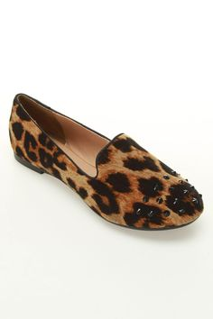 Report Chase Loafer Flats in Leopard - Beyond the Rack
