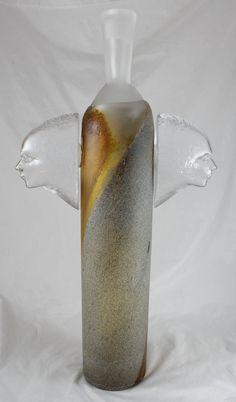 """Large 20"""" Kosta Boda Art Deco Vase Kjell Engman Signed/Numbered Atelier"""