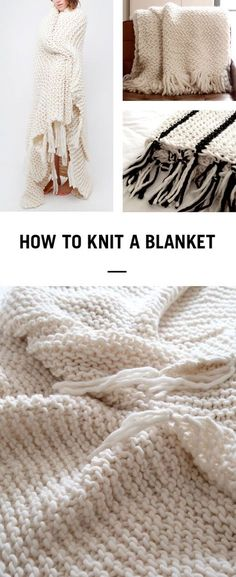 Learn how to knit a cosy woollen blanket in next to no time using Wool and the Gang's Crazy Sexy Wool and 25mm knitting needles