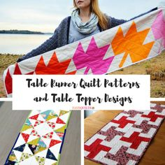 Table Runner Quilt Patterns and Table Topper Designs