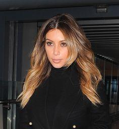 Le balayage miel de Kim Kardashian