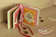 Sonnentor Gewürzbuch Stampin' Up! Mini Albums, Up, Packaging, Love, Extended Play, Mini Scrapbooks
