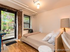 Would you believe that backyard is in #Manhattan?  This #furnished #rental is the perfect place for a drink with friends. http://www.nyhabitat.com/new-york-apartment/furnished/16277