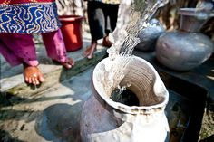 Clean water in Bangladesh at a new charity: water project.