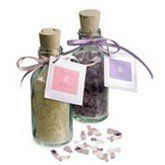 Scented Bath Salts Bottle Favor by HansonEllis. $2.50. These mini glass vials of aromatic bath salts are a delight to the senses. Soothe and relax your out of town guest or bridal partys tired body with treasures from the sea that will delight their senses and soften their skin. It makes a great wedding favor or a special beauty accessory to any bridal shower gift basket. Each mini glass bottle is securely corked to capture the aromatic fragrance of the bath salts and accented...