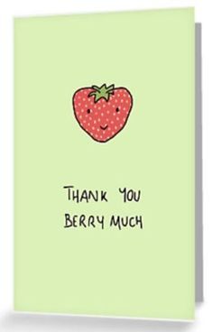 Thank You Berry Much card pun #handmadecards #cardmaking #thankyoucards #thankyougifts #thankyounotes #handmade #cards #cardmaking #carddesign #thankyou #gratitude #greetingcards #giftideas