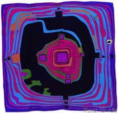 Friedensreich Hundertwasser - Der Kleine Weg Hundertwasser Art, Friedensreich Hundertwasser, Lascaux, Klimt, Outsider Art, Famous Artists, Art And Architecture, Artist At Work, Textile Art