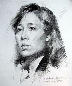 Jin Shangyi is associated with the Central Academy of Fine Arts in Beijing. This portrait by Sumiao Jifa Jiaoxue is from 1971