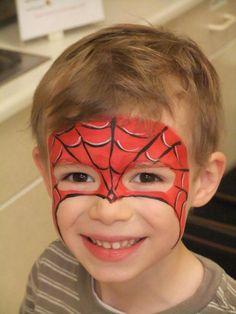 örümcek Adam Yüz Boyama örnekleri Yuz Boyama Pinterest