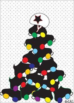 Christmas roller derby tree skates