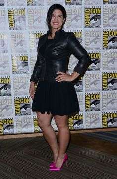 Gina Carano attends Century Fox Press Line Beautiful Women Over 40, Stunningly Beautiful, Beautiful Legs, Pretty Outfits, Cool Outfits, Cara Dune, New Years Eve Dresses, Martial Arts Women, Curvy Outfits