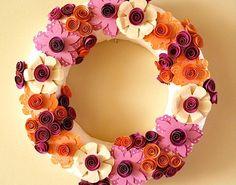 Core'dinations Paper Flower Wreath