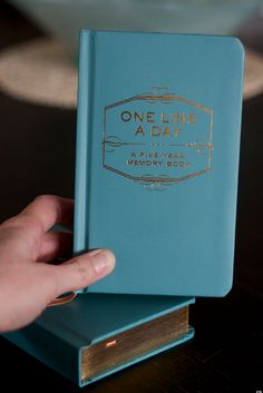 I am terrible at journaling, but this may be the journal I need. One Line a Day. I could do that.