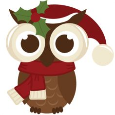 Freebie Of The Day! Christmas Owl - freebiechristmasowl111613 - Freebie of the Day! - Miss Kate Cuttables | Product Categories Scrapbooking ...