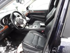 SEAT FRONT Jeep Parts For Sale, 2011 Jeep Grand Cherokee, Used Parts, New England, Black And Brown, Car Seats, Black Leather, Trucks, Vehicles