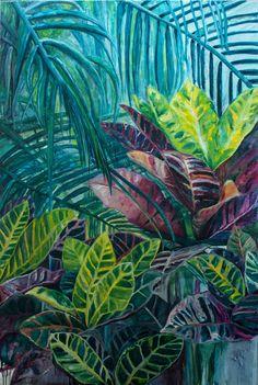 Hemmingway's Garden I, oil on canvas. 140 x 100 cm, 2016, available by artist: charlotte@vonelm.net / 2.600 Euro