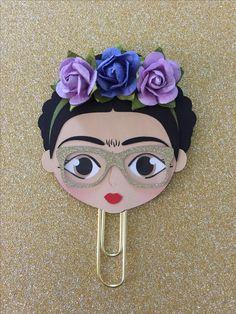 Nerdy Frida Kahlo #plannerclip #fridakahloclip