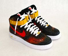 Custom Solar Flare Galaxy Nike Air Force 1 - Hand Painted Sneakers