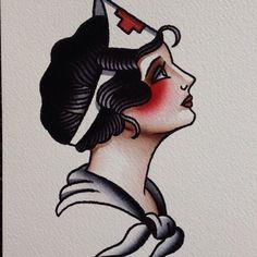 Image result for old school nurse tattoo