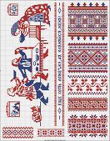 Free Easy Cross, Pattern Maker, PCStitch Charts + Free Historic Old Pattern Books great patterns Free Russian Cross Stitch, Beaded Cross Stitch, Cross Stitch Borders, Cross Stitch Charts, Cross Stitching, Cross Stitch Patterns, Russian Embroidery, Embroidery Art, Cross Stitch Embroidery