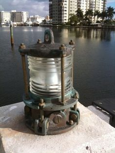 patina piling dock light