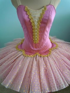 Pink and Gold tutu form DQ Designs