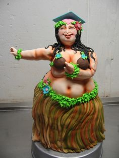 Graduation Hula Cake by Karen Portaleo/ Highland Bakery, via Flickr