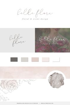 Custom Brand Design by Ally B Designs Wedding Logo Design, Wedding Logos, Brand Identity, Logo Branding, Handwritten Logo, Custom Website Design, Web Design Projects, Photographer Branding, Brand Inspiration