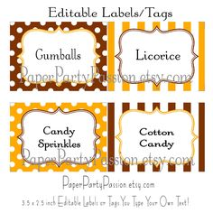 Free Printable Garden Tags | Free Printable Candy Buffet Labels