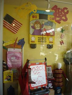 The Funky Frog, Children's Resale Boutique's Back to School Window 2013