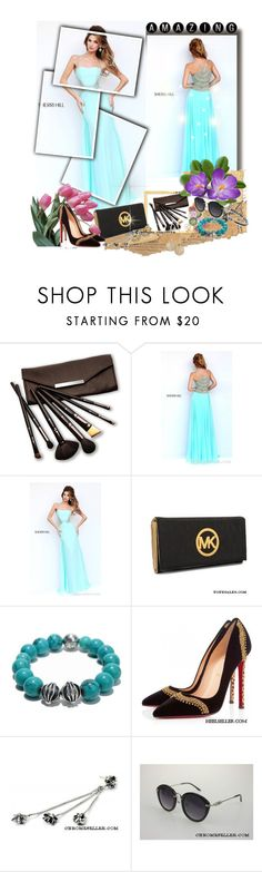 """""""Sherri Hill 8558 Beads Girl Prom Dress"""" by evermissjody ❤ liked on Polyvore featuring Borghese, Michael Kors, Chrome Hearts and Christian Louboutin"""