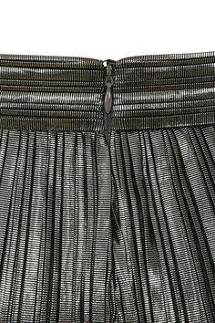d0c8a9868b9  Shimmy  Pewter Metallic Pleated Trousers - Mistress Rocks.