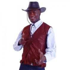 Cowboyhut Cowboy Weste und Westernhemd für Cowboy Kostüm