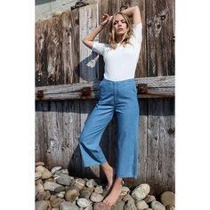 A L E X  F I N E  K N I T +  C A M I L L E  D E N I M  C H A M B R A Y : f i n e  k n i t  t e e /  d e n i m  c u l o t t e  p a n t  #arniesays#ss16#news  #alex#knittedtee#1000,- #camille#culottepants#1400,- #picoftheday#photooftheday#potd#fashion#instafashion#fashiongram#instastyle#trend#ootd#outfit#womanswear#clothing#norwegianbrand#bestbasics#basics#knits#oslo#norway#fashionnorway#scandinavianfashion#nordicfashion