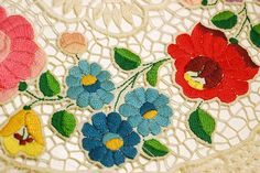 https://flic.kr/p/83YvyP | Hungarian embroidery closeup | Closeup of the embroidered doily