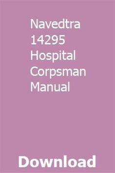 Hospital corpsman.