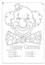 English worksheet: Happy carnival