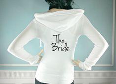 The Bride Hoodie. Custom Bridal Hoodie. Wedding by TheSassyBride