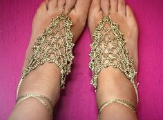 These Barefoot sandals are hand made of high quality viscose yarn .  Womans feet was always something adorable - just like the accessory we offer to you. These crochet sandals are an excellent summer jewelry for your feet. They will look very elegant on you and will highlight the beauty of your ankles. These nude sandals will make you feel unique and stylish.    On the beach, at pool, at home, at weddings party, at yoga class or at dance class with these Barefoot Sandals you will be…