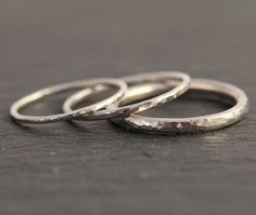 Sterling Silver Textured Ring Silver Midi Ring Silver