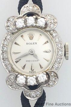 Genuine Rolex 18k Gold Vintage Diamond Cocktail Ladies Watch #Rolex