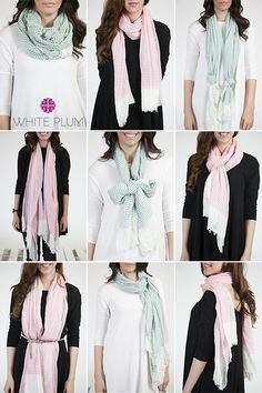 In my humble opinion, scarves are the perfect accessory. A lightweight scarf in the spring can add color, texture,or a pattern to any outfit. Wear a scarf with a dress, a fun blouse, or a simple plain...