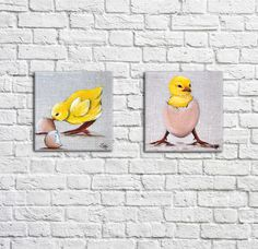 Unique Paintings, Small Paintings, Art Textile, Illustrations, Home And Deco, Aide, Country Decor, Wall Decor, Collections