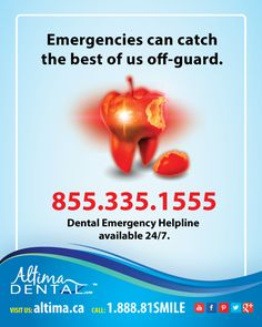 #Toothache at 3am? #Dental #Emergency? Our Dental Emergency Helpline is available 24/7: 855.335.1555