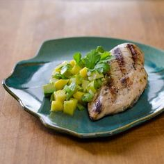 This paleo grilled chicken with avocado mango salsa is gluten free, grain free and dairy free. It's a perfect taste of summer. | cookeatpaleo.com