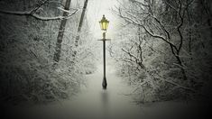 Narnia Lamp Post Wallpaper | Haiqal.