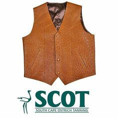 A beautiful #ostrichleather waistcoat – will add a touch of style to a gentleman's attire. #ostrich #ostrichwaistcoat